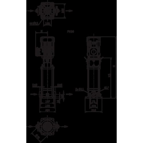 Вертикальный многоступенчатый насос Wilo HELIX V406-1/16/E/S/1-230-50