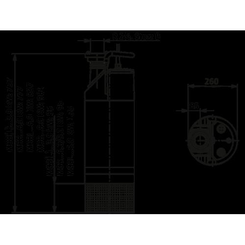 Погружной дренажный насос Wilo Padus PRO M08/T090-540/A