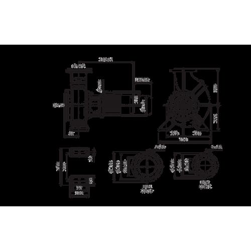Одноступенчатый насос Wilo Atmos GIGA-B 32/150.1-0,37/4
